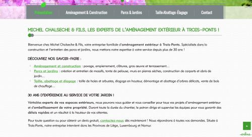 R daction web entreprise de jardinage cv camille demarque for Entreprise jardinage